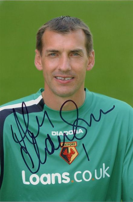 Alec Chamberlain, Watford, signed 6x4 inch photo.